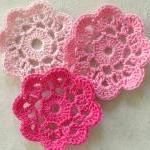 Pretty in Pink Handmade Applique Fl..