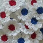 Red, White and Blue Crochet Daisy F..