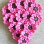 Pink Crochet Flowers, Daisies, 16 S..