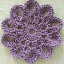 Plum Purple Handmade Cotton Coasters - Doilies, Embellishments - set of 4